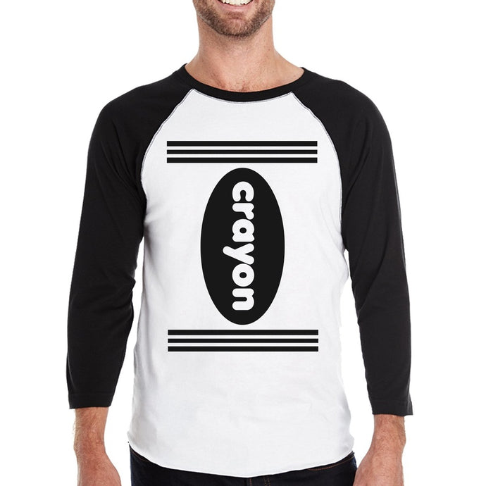 Crayon - Black And White Baseball Shirt