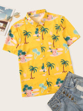 Coconut Trees Print Shirt