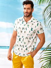 Cactus Print Front Pocket Shirt