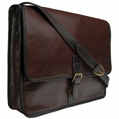 Leather Laptop Messenger