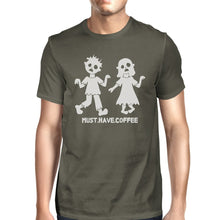 Must Have Coffee Zombies Dark Grey Shirt