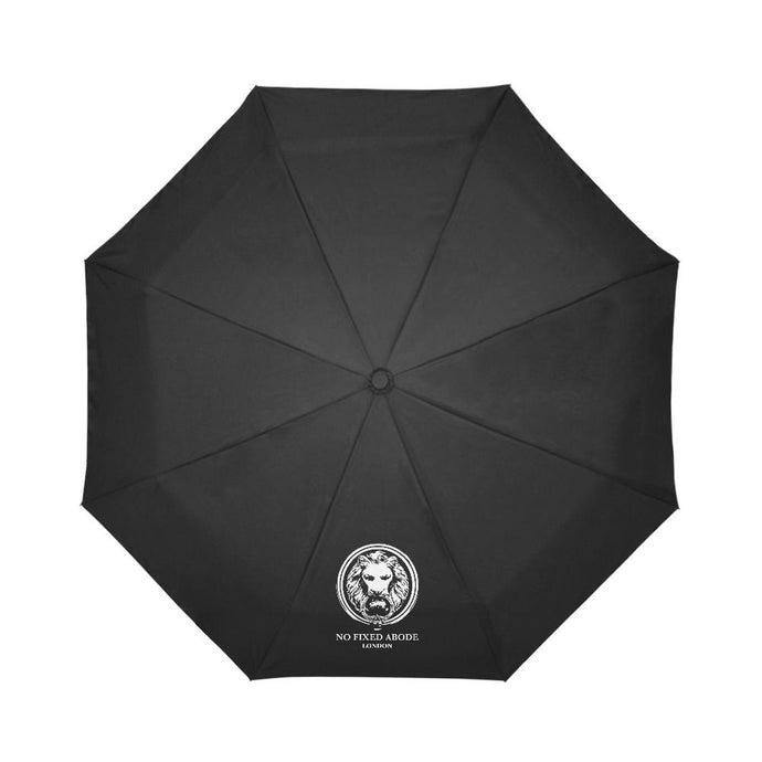 No Fixed Abode Black Auto-Foldable Umbrella