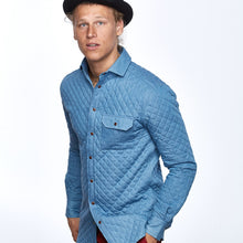 "Arctic Blue ""Quilted"" Denim Shirt"