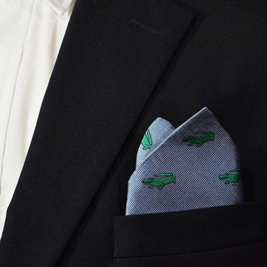 Alligator Pocket Square