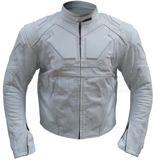 Oblivion Men White Leather Jacket