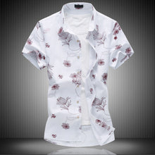 Shirt Men Linen Short sleeve shirt