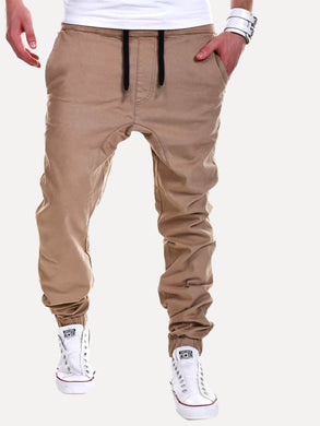 Elastic Foot Drawstring Pants
