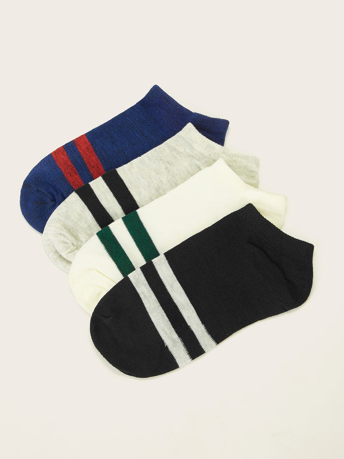 Striped Ankle Socks 4 pairs