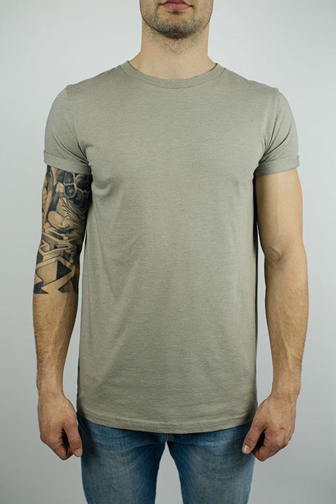 Rolled-cuff t-shirt in Sand