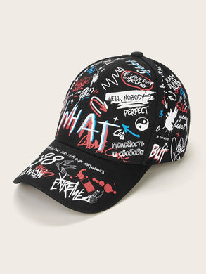Slogan Pattern Baseball Cap
