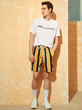 Drawstring Striped Wind Shorts