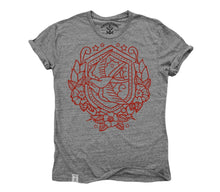 Nautical Swallow: Tri-Blend Short Sleeve T-Shirt in Tri Athletic Grey