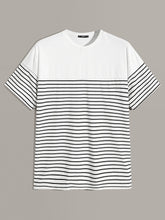 Color-blocked Striped T