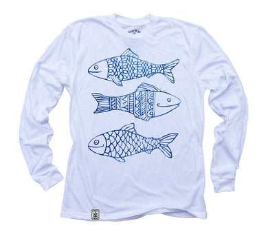 Happy Fish: Organic Long Sleeve T