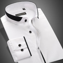 Stand Collar Long Sleeve Non-Iron 100% Cotton Shirts