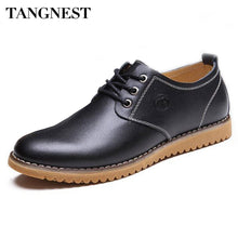 Tangnest 2017 Spring Men's Business Shoe Classic Dress Shoes For Party Male PU Leather Shoes Flat Oxford Plus Size 38-46,XMP260