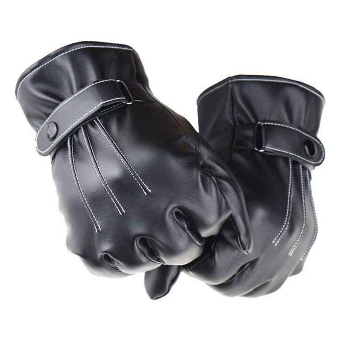 Hot Selling Mens PU Leather Winter Super Driving Warm Gloves Cashmere Tactical Gloves Wholesale&Retail