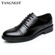 Tangnest 2017 New Arrival Men Flats Solid Round Toe Lace Up Men's Business Shoes PU Leather Slip-on Wedge Shoes For Man XMP628