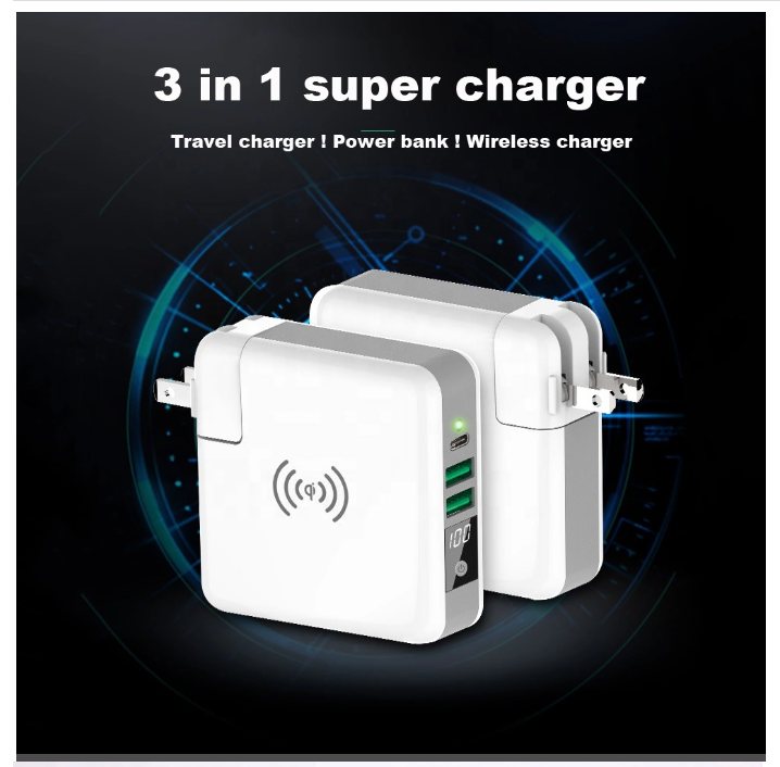 3 in 1 alternative plugs super charger/adaptor power bank
