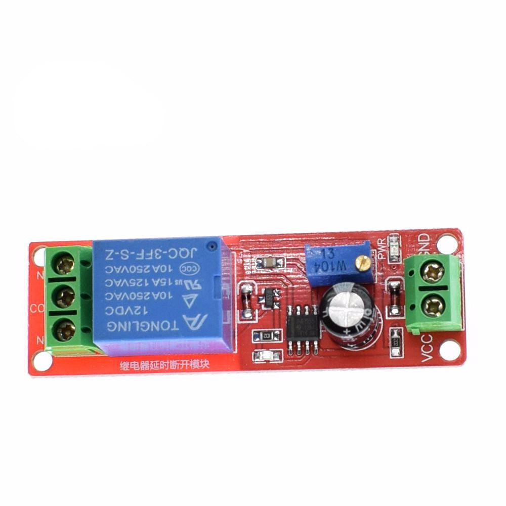 Ne555 Timer Switch Adjustable Module Time Delay Relay Dc 12v 1pcs Turn On Off Shield 0