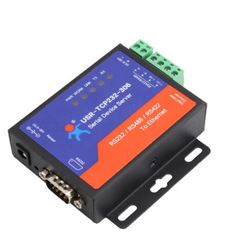 USR-TCP232-306 Low cost RS232 RS485 RS422 serial to network ethernet converter with web page function
