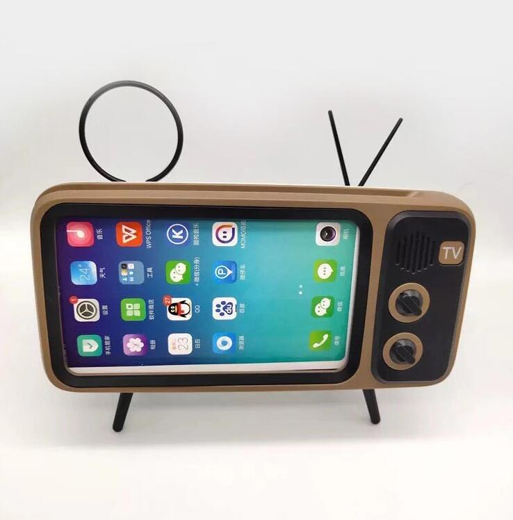Retro Tv Mobile Phone Bracket Card Wireless Speaker (including shipping)