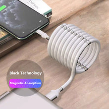 0.9M/1.8M USB Cable Magnetic Absorption Line Data Cable 2.4A Super Fast Charging Cables Redesigned Usb For Iphone X 11 8
