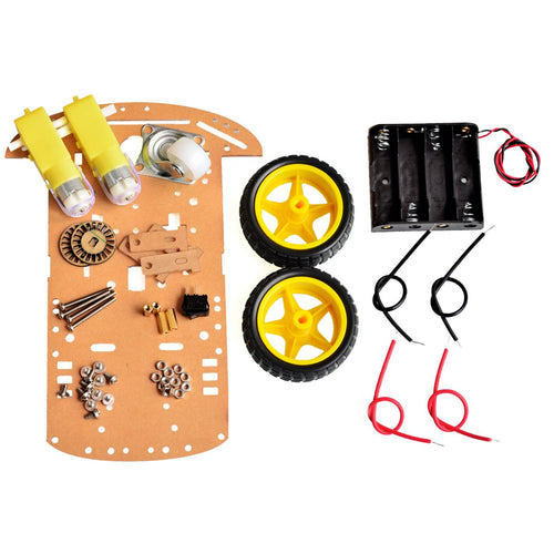 2WD Motor Smart Robot Car Chassis DIY Kit with Battery Box for Arduono without tyre and motor