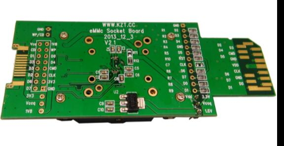 eMMC test adapter with SD Interface