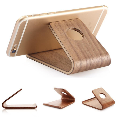 Natural Bamboo Wood Stand Holder for iPhone