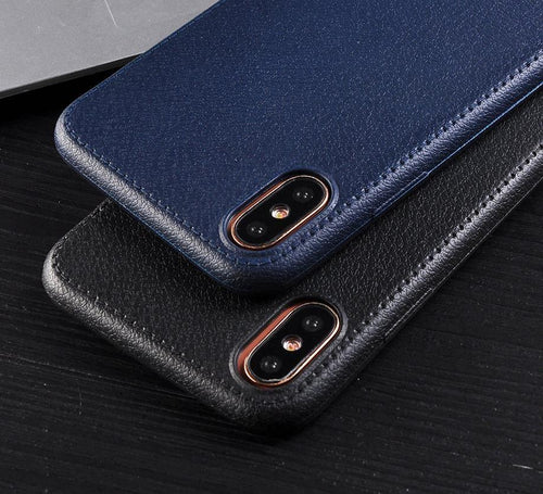 Soft Leather Classy Phone Case For iPhone X