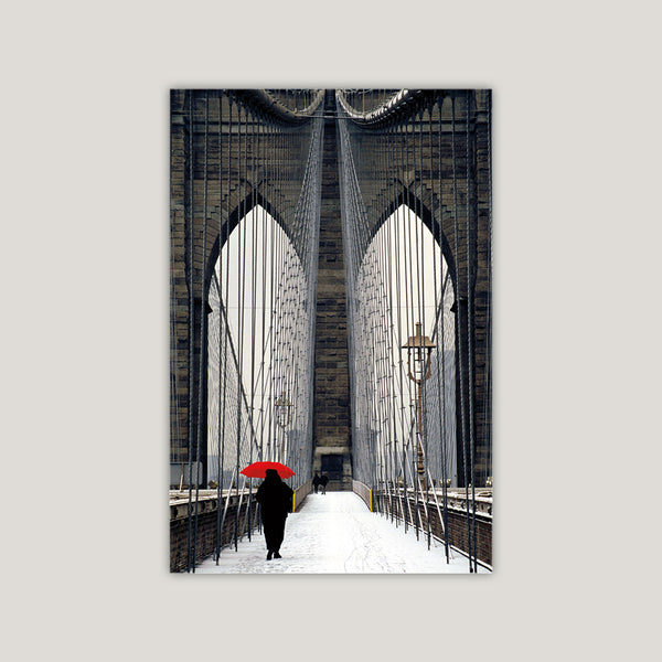 Brooklyn Bridge Meets Red, Michael Cahill