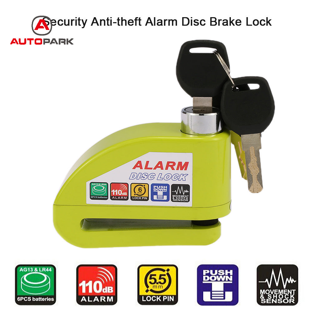 Anti-Theft Alarm Disc Lock
