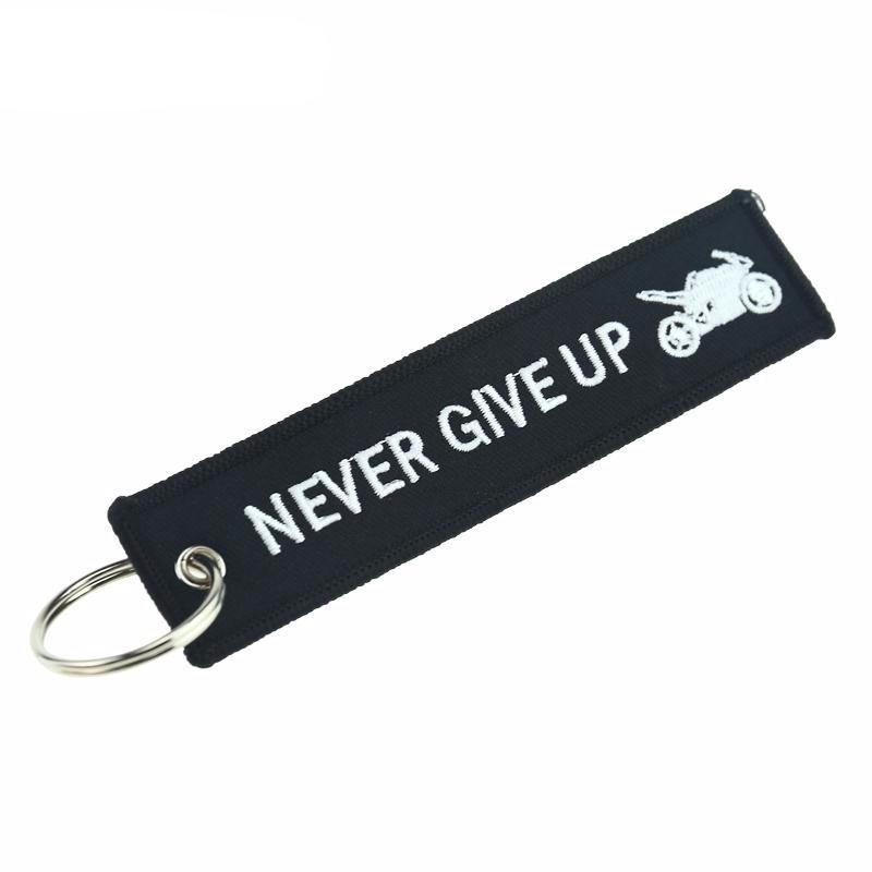 Never Give Up - Key Tag