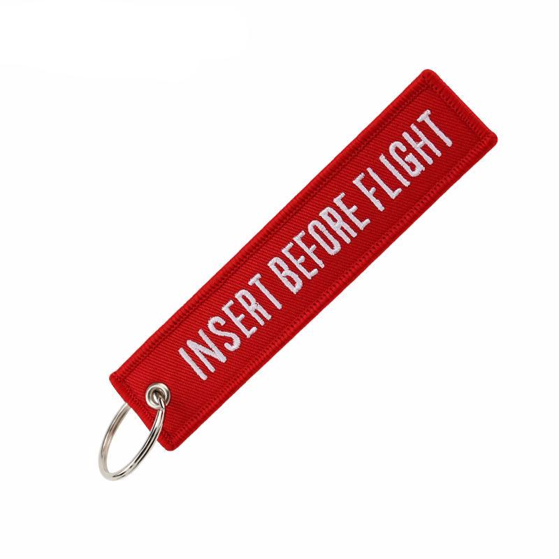 Insert Before Flight RED - Key Tag