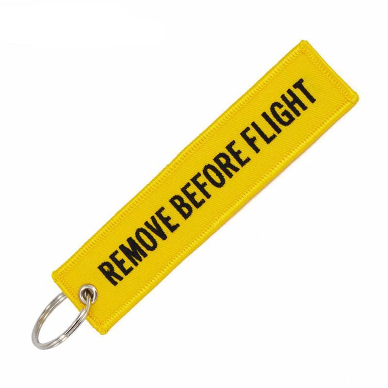 Remove Before Flight YELLOW - Key Tag