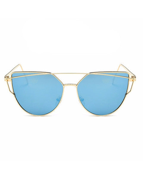 Gold Blue Cat eye Sunglasse