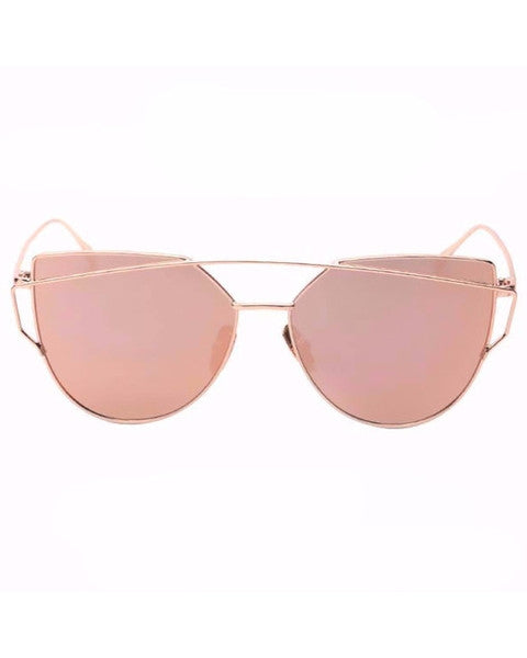 Gold Pink Cat eye Sunglasse