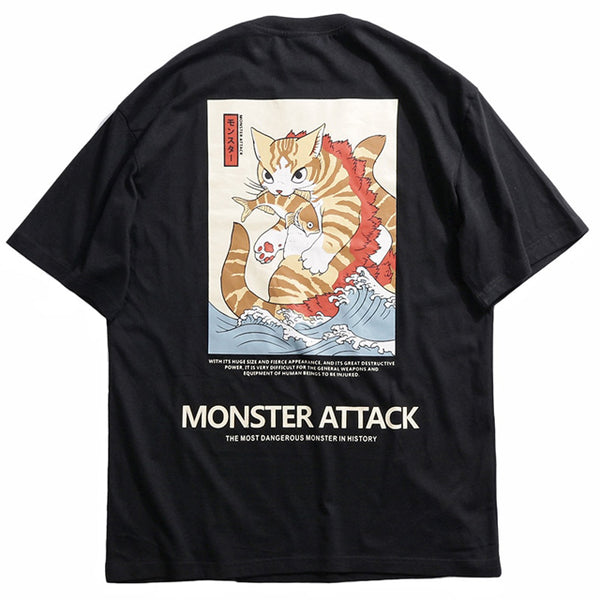 Monster Attack Cotton Tshirt