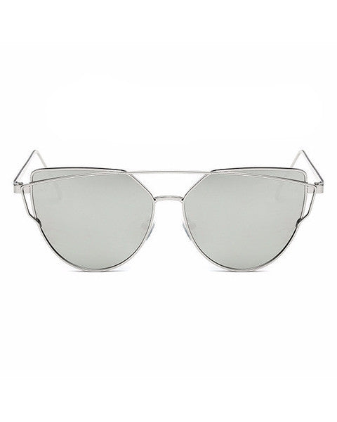Silver Cat eye Sunglasse