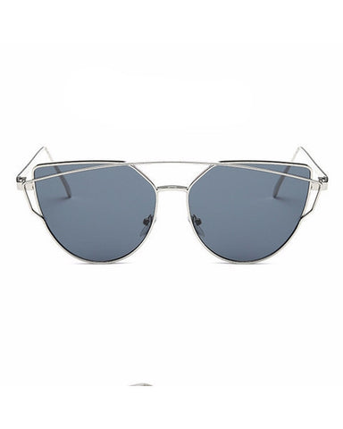 Silver Gray Cat eye Sunglasse