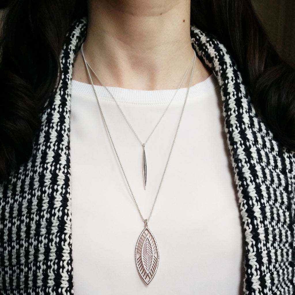 Styling Necklaces with a Winter Cardigan