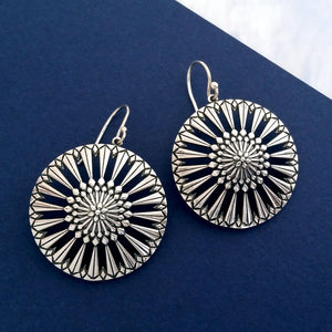 New Magnolia Circle Drop Earrings
