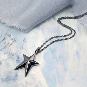 Custom Star Pendant in Black Rhodium