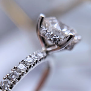 Sparkly Engagement Ring with Pavé Diamonds