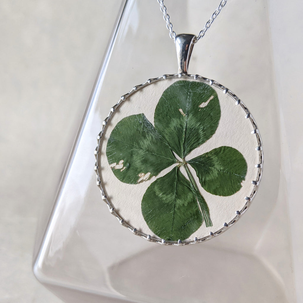 Custom Pendant for a Four Leaf Clover