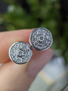 Halo Earrings Using Heirloom Diamonds