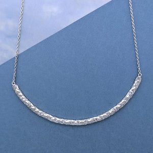 Custom Hammered Arc Necklace