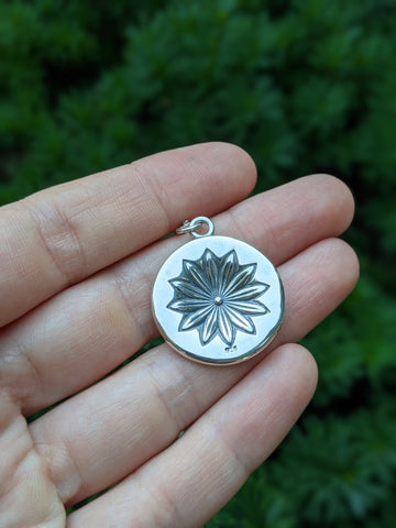 Christine Alaniz Designs - Star Anise Coin Medallion Pendant