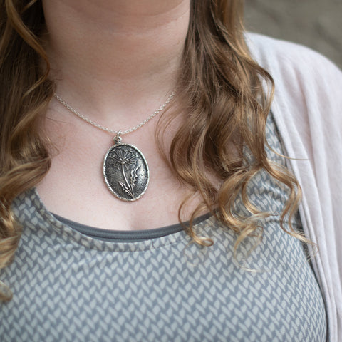Christine Alaniz Designs sterling silver Dandelion Necklace for Game of Thrones